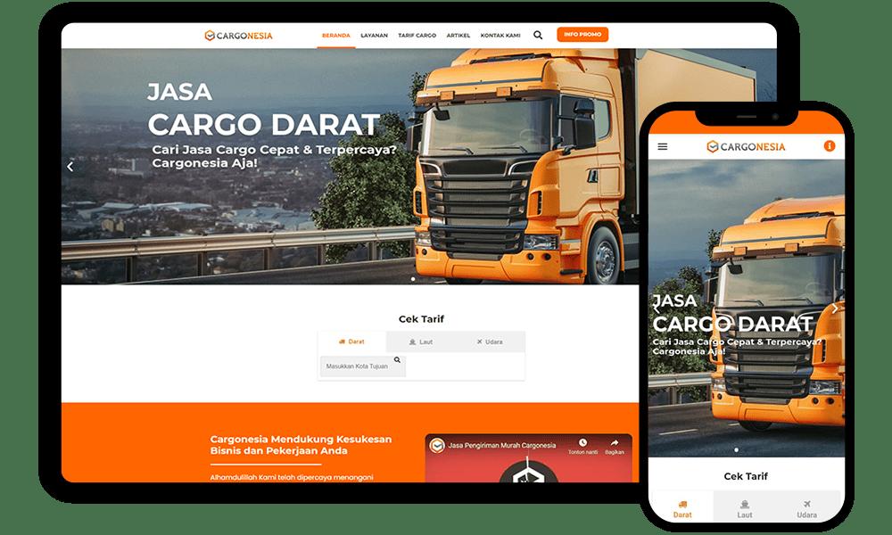 Redesign Website cargonesia.com