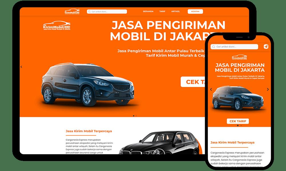Redesign Website kirimmobil.co.id
