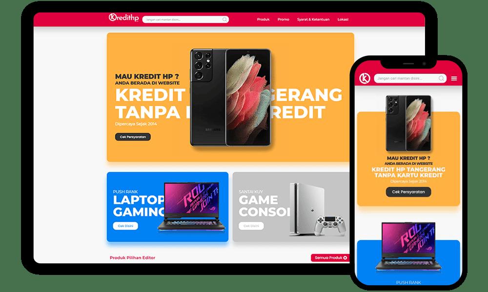 Pembuatan Website kredithp.com