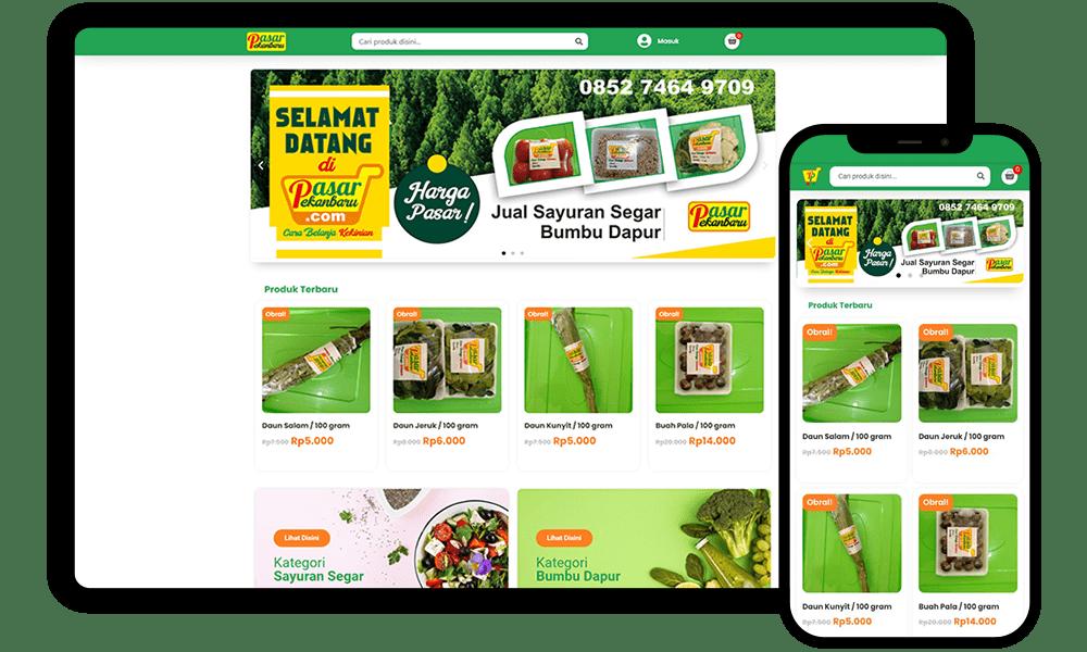 Redesign Website pasarpekanbaru.com