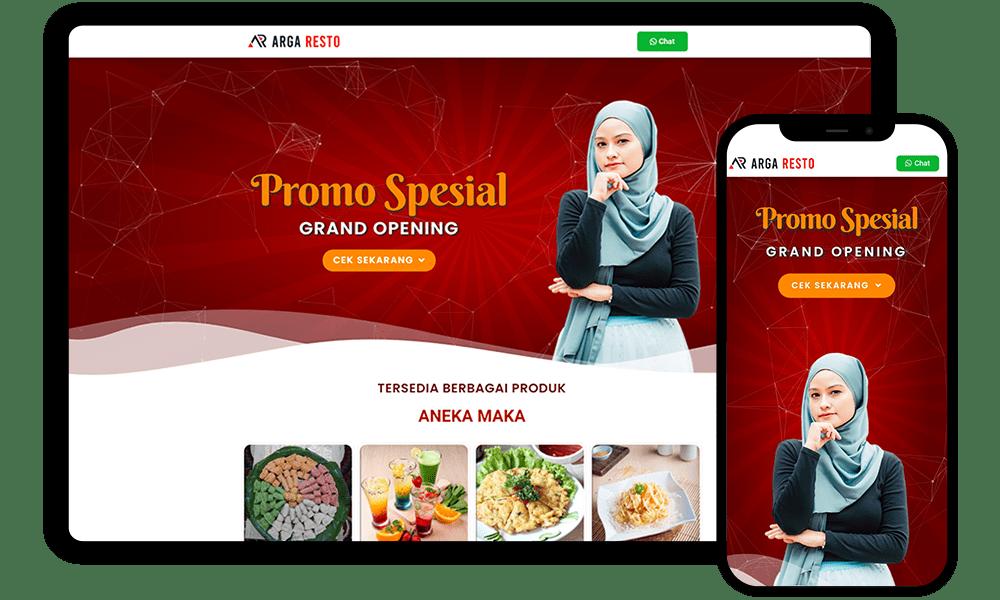 Jasa Web Design argaresto.com by Febri Suryanto