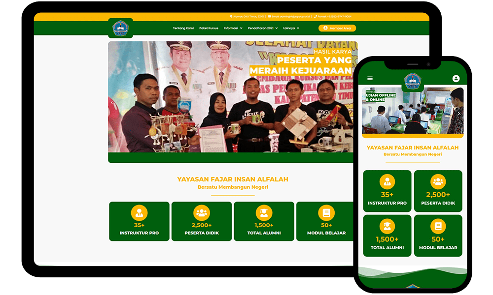 Jasa Web Design fajargroup.or.id by Febri Suryanto