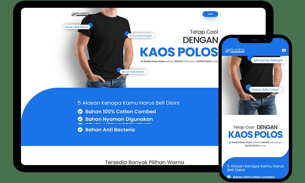 Jasa Web Design radenkaospolos.com by Febri Suryanto