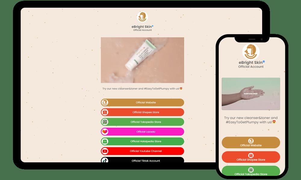 Jasa Pembuatan Website Biolink Ebright.skin