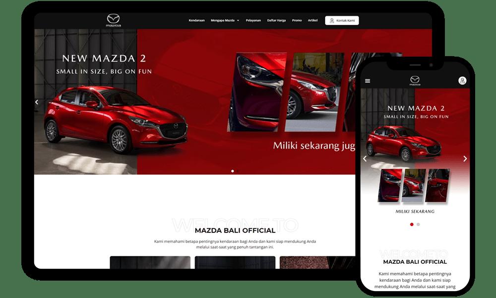 Jasa Pembuatan Website Mazda Bali Official